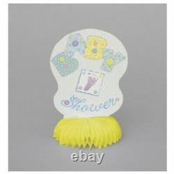 Baby Pastel Stitching Table Centerpiece Baby Shower 4ct. Free Shipping