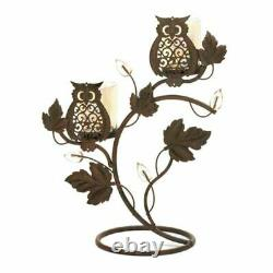 Bathroom Candle Holder For Living Room Kitchen Table Centerpiece Owl Decor