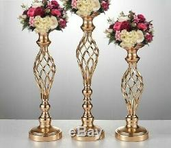 Candle Holders Rack Stands Decoration Road Lead Table Centerpiece Pillars 10 Pcs