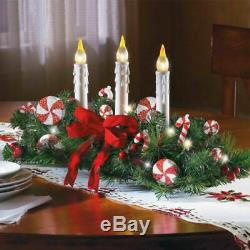 Christmas Candles Tabletop Xmas Centerpiece Decoration Table Lighted Ornaments