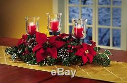 Christmas Table Centerpieces Holiday Candle Holder For Decorations Clearance Red