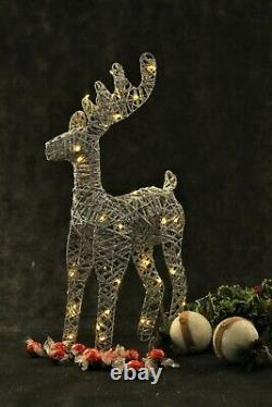 Christmas Table Decorations Centrepiece LED Fairy Lights Reindeer Ornament