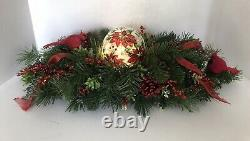 Christmas Winter Holiday Table Centerpiece, Lighted Glass Globe