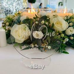 Clear Acrylic Circle Wedding Table Numbers, Wreath Table Numbers, Table Names