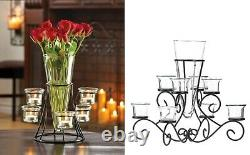 Coffee Table Centerpieces Dining Black Tealight Candles Wedding For Reception