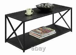 Coffee Table Display Shelves Storage Living Room Accent Centerpiece Furniture