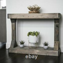 Console Table Centerpiece Stage Entryway Picture Frame Display Shelf Solid Wood