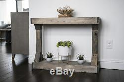 Console Table Solid Wood Centerpiece Stage Entryway Picture Frame Display Shelf