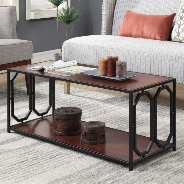 Contemporary Cocktail Coffee Table Rectangular Living Room Accent Centerpiece
