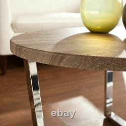 Contemporary Oval Coffee Table Living Room Centerpiece Accent Display Storage