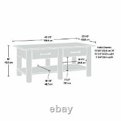 Country Style Coffee Table with Drawers Accent Centerpiece Lodge Log Rustic Finish