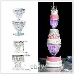 Crystal Acrylic Cake Stands set for Table Wedding Centerpiece Tower Set of 2
