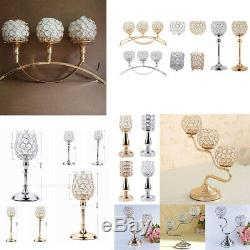 Crystal Candlestick Candle Holder Candelabra Wedding Dining Table Centerpieces