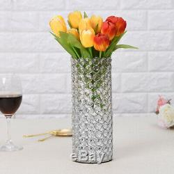 Crystal Cylinder Glass Vases Candle Holders for Home Wedding Table Centerpieces