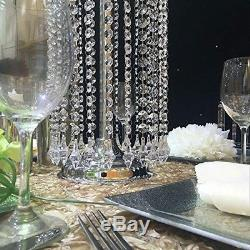 Crystal Wedding Centerpiece 27.5 inch Tall Flower Stand Table Decor 10pcs
