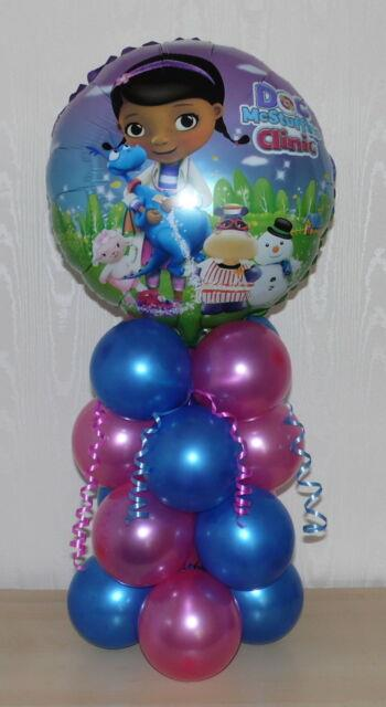 Doc Mcstuffins Clinic Happy Birthday-foil Balloon Display-table Centrepiece