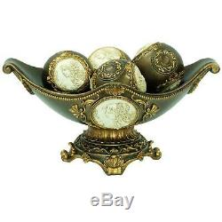 Dining Table Centerpiece Decorative 8 in. Handcrafted Bowl Plate Home Accent