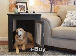 Dog Crate End Table With Stainless Steel Living Room Table Centerpiece NEW Nice