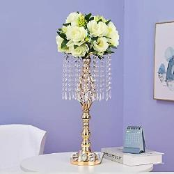 ECOM KING Gold Tall Wedding Centerpiece for Table, Candle Holder, Gold Wedding