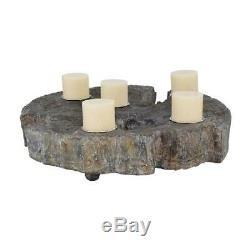 Elwin Tree Trunk Candleholder Table Centerpiece (Candles not included)