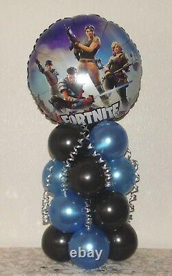 Fortnite Video Game Foil Balloon Display Table Centrepiece Decoration