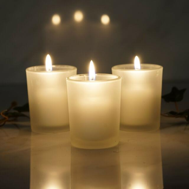 Frosted Glass Candle Votive Holders For Wedding Centerpieces Table Decorations