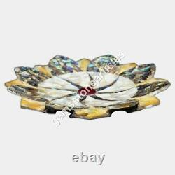 Fruit Bowl Pottery Large Marble Bowl for Table Centerpiece Vintage Style Decor