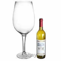 Giant Clear Wine Glass Novelty Table Decorative Display Centerpiece 20 Inch Gift