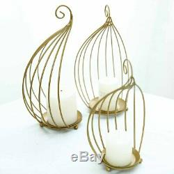 Gold Metal Candle Holders Wedding Table Centerpieces Wedding Favors Home