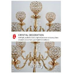 Gold Plated Candelabra Candle Holder Pillar Candle Table Centerpiece Dinner