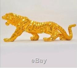 Gold Resin Tiger Animal Ornament Freestanding Table Statue Centrepiece Uk