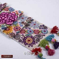 Hand Embroidered table runner patterns Peruvian Handmade Table centrepiece