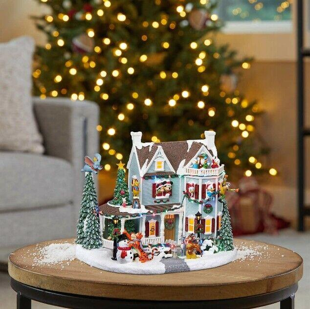 Indoor Animated Christmas Table Centerpieces Holiday House With Lights N Music