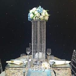 JOB LOT Crystal Wedding Centerpiece 27.5 in Tall Flower Stand Table Decor 10pcs