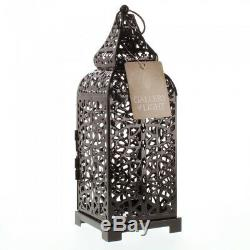 LOT of 10 Black Moroccan Style Candle Lantern Wedding Table Decor Centerpieces
