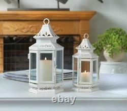 Lot 10 White Lantern Small 8 Candle Holder Wedding Table Centerpieces NEW