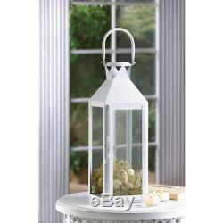 Lot 15 Large White 15 Tall Candle Holder Lantern lamp Wedding Table centerpiece