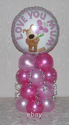 Love You Mum Foil Balloon Display Table Centrepiece