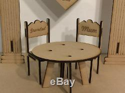 Loved Ones in Heaven Wedding Memory Table 3D Centrepiece with Personalised Chairs