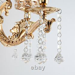 Luxury 5 Arms Candelabra Candle Holder Pillar Candle Table Centerpiece