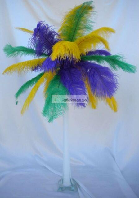 Madi Gras Ostrich Feather Centerpieces Wedding Table Centerpieces 6 Sets