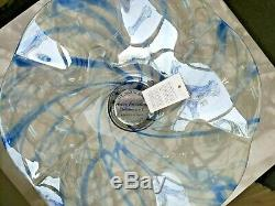 Murano Glass Bowl Table Top Centerpiece Blue