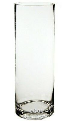 NEW 20 bulk Cylinder Vases Wedding Glass Table Centerpiece Candle holders 9.5 in