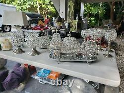 Nanette Lepore 15 pieces silver and crystal table decor