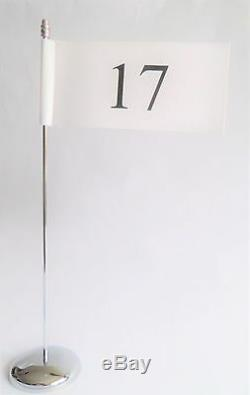 Numbers 1 20 White Office Wedding Restaurant & Events Ultimate Table Flag Set