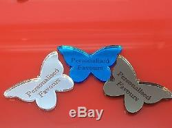 Personalised Engraved Butter Fly Mirror For Wedding Table Decoration & Party