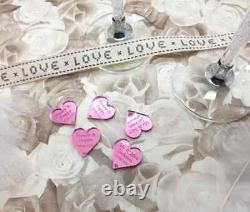 Personalised Mirror Perspex Table Confetti Wedding/Engagement Table Decoration