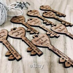 Personalised Wooden Heart Key Love-Spoons, Wedding Favours, Table Decor, Confetti