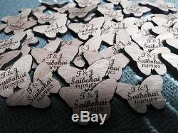 Personalised vintage wooden butterfly table confetti /wedding table decorations