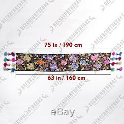 Peruvian Embroidered table runner patterns Handmade Black Table center pieces